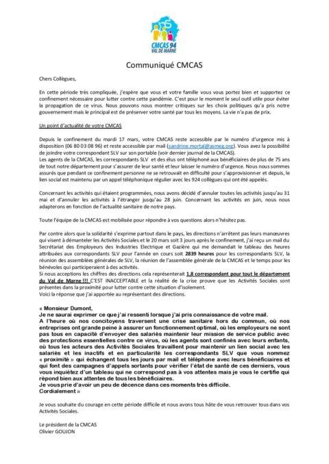 Assemblées Générales de vos SLV onglet «Actualités et Infos»